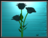 Teal Animated Roses