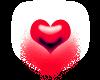 tiny heart red