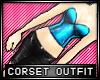 * Shiny corset - blue