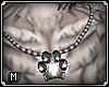 Sparkly paw pendant