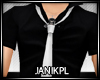 jnk~ BLACKs SHIRT + TIE