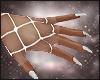 Dark Skull Doll Gloves