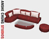 [ACS] RED SECTIONAL SOFA