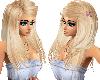 Blonde hair & floral bow
