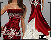 queen gown red