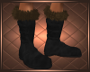 Fur Boots Black Brown