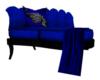 Blue Tiger Kiss chaise
