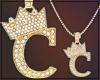 Gold Chain C Letter Fem