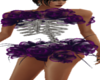 Purple rose skeleton fit