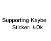 Kaybe SupportSticker 40k