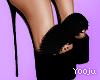 Fur High Heel Slippers