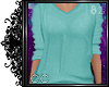 cc casual sweater (teal)