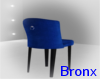 ,Bx. Blue Suede Barstool