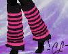 Leg Warmers  PinkStriped