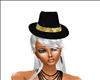 chapeau noir et dorer
