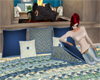 Blue pillows with poses