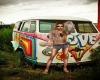 Hippie Love Van Picture