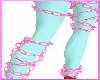 $A$PNK GLITTER LEG CHAIN