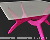 Pink Glass Table