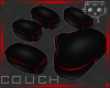 Couch BlackRed 2c Ⓚ