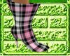 *Pink Plaid Cheap Boots