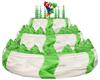 Yoshi B-day Cake