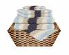 Bath Towels Set Stripes
