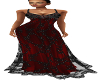 Shimmer Ballgown Red Blk