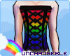 [U] Rainbow Male Corset