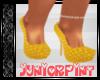 *T* Yellow Polka Heels