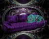 purple teal tiger couch