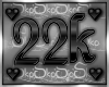 22k SUPPORT STICKER