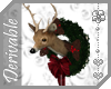 ~AK~ Mounted Deer Wreath