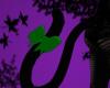 Black Cat tail/Green Bow