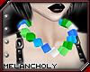 Cubes Necklace: Aqua