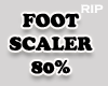 R. Foot scaler 80% MF