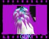 Purple and Teal Fur Cuff