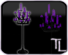 Royal Purple Candlestand