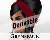 Derivable hair headband