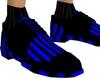 BLACK BLUE STRIP SHOE