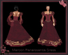 Maroon Renaissance Dress
