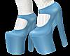 B! Blue Heels White Sock