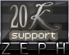 [Z] 20k Support Sticker