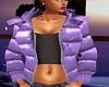 [JH] purple puffy coat