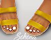 ṩ Brea Sandals Yel