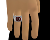 Silver Signet D Ring