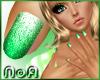 *NoA*Glitter Nail Green