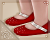 !D! Flowergirl Shoes Red