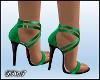 D- High Heels Green