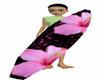 pink flower surfboard